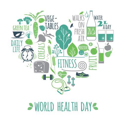 World health day vector illustration.