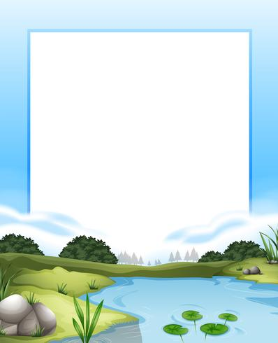 Border with river scene background - Download Free Vector Art, Stock Graphics & Images