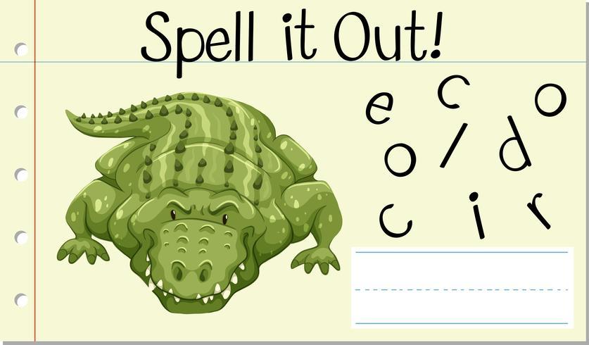 Stava engelska ordet krokodil