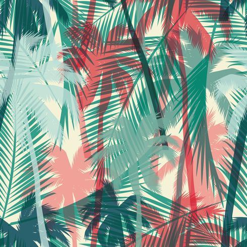 Modèle exotique sans couture avec des feuilles de palmier.