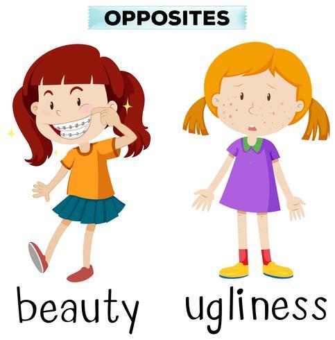 Motsatta ord för skönhet och fulhet