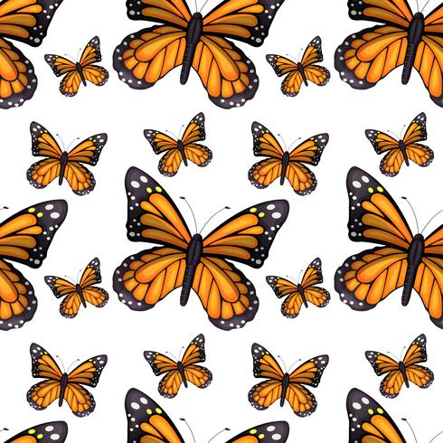 Diseño de fondo transparente con mariposas