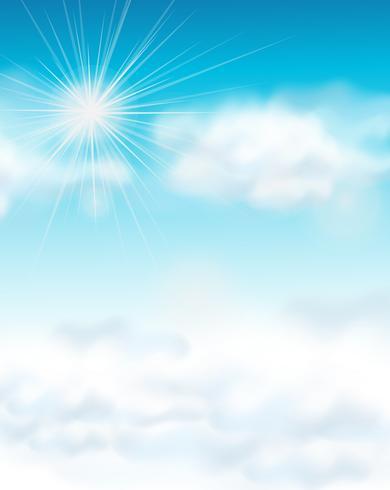 Backgroud design com céu azul brilhante