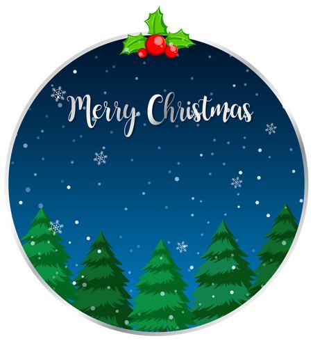Círculo feliz navidad tarjeta