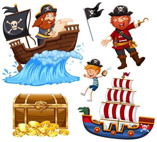 En uppsättning av piratvektor