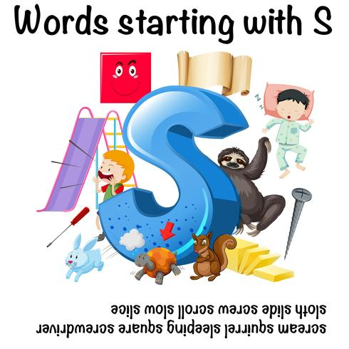 English word starting with S illustration