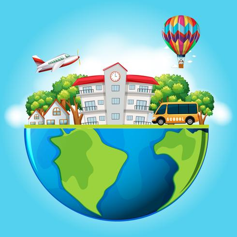 Buildings and transportation on earth - Download Free Vector Art, Stock Graphics & Images