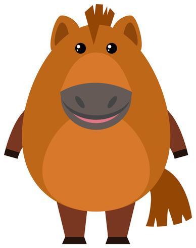 Cavallo marrone su sfondo bianco