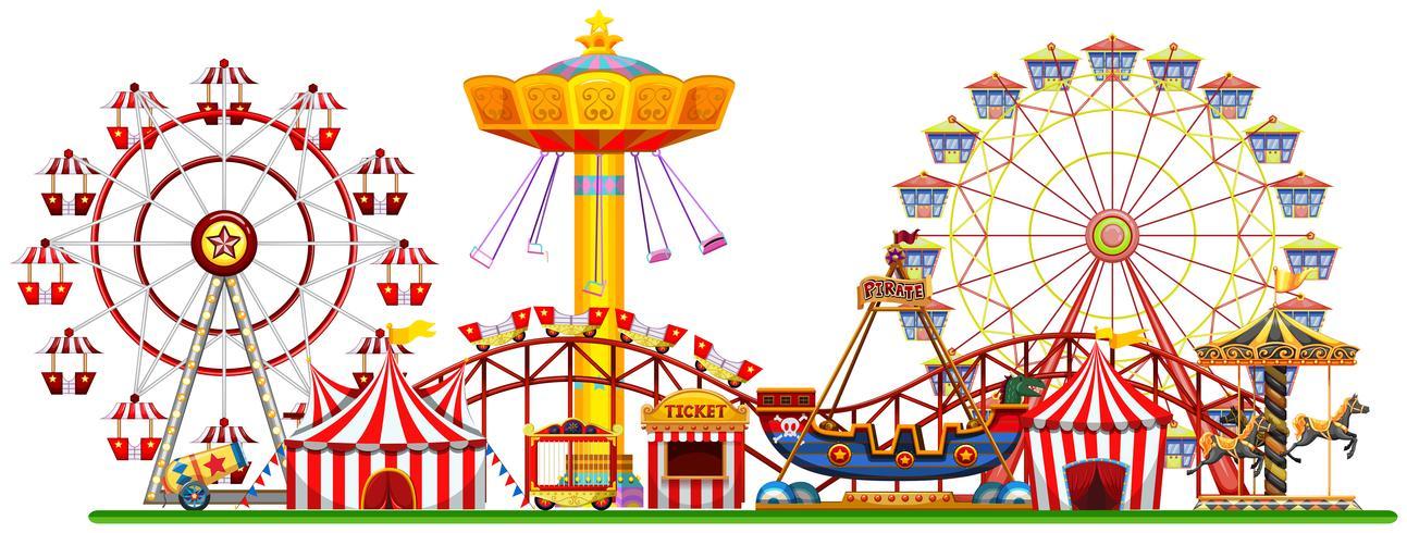 A Panorama of Fun Fair vector