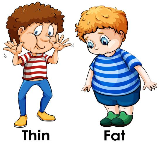 Una comparación de cuerpo de niño vector