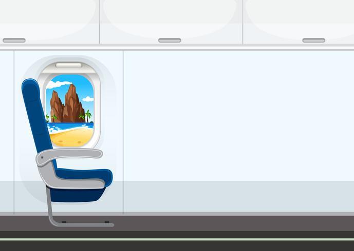 Un asiento en el avion
