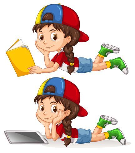 Conjunto de niña estudiando