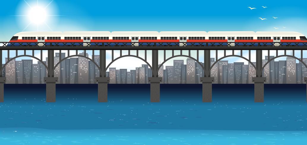 Transporte urbano de trem moderno