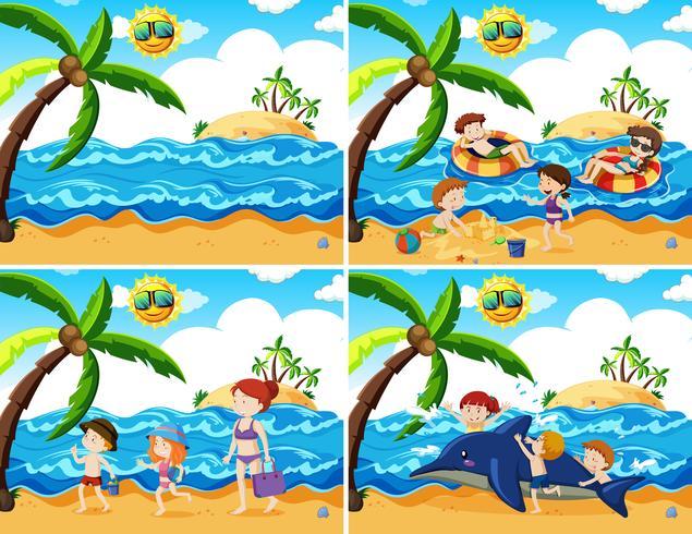 Un ensemble d'activités de plage