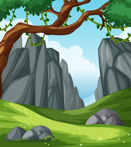 Un paesaggio naturale pianeggiante vettore