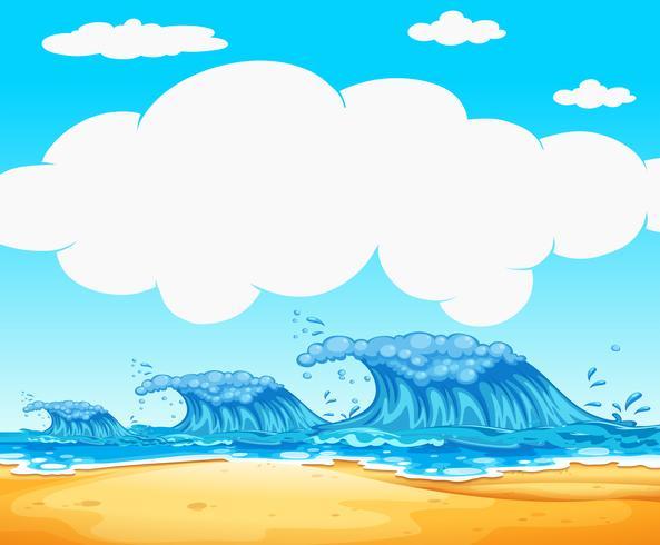 Océan avec fond de vagues