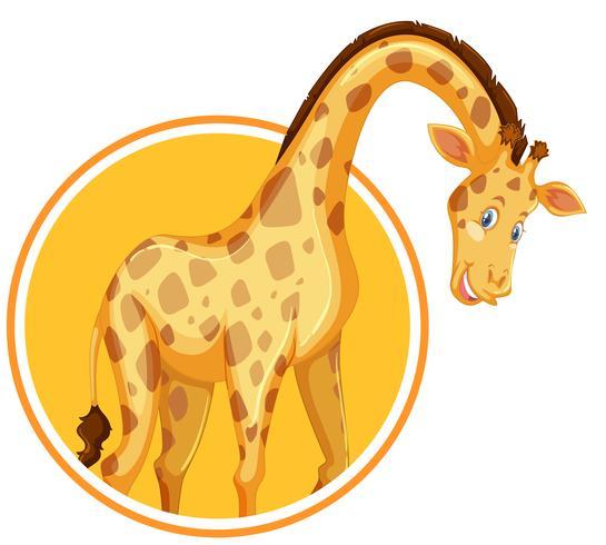 Un modello di adesivo giraffa vettore