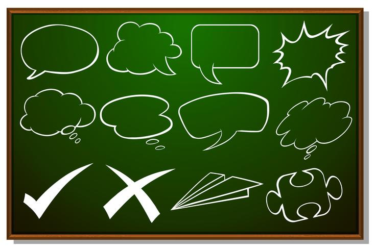 Different design of speech bubbles on board