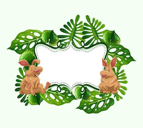 Frame ontwerp met twee konijnen