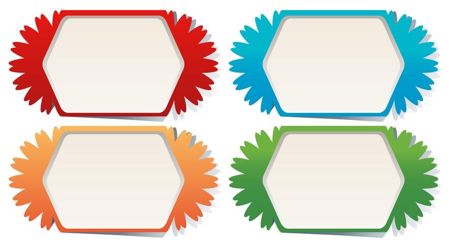 Modèles d'étiquettes en quatre couleurs