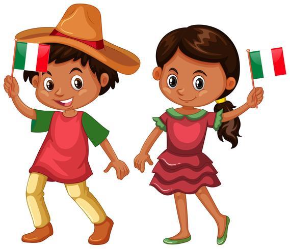 Chico y chica de mexico