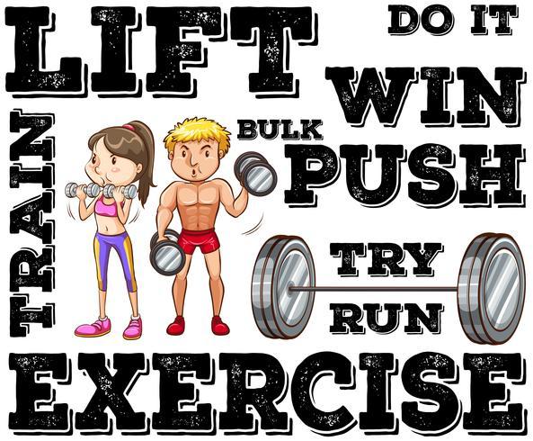 Mann und Frau, die Gewichtheben tun