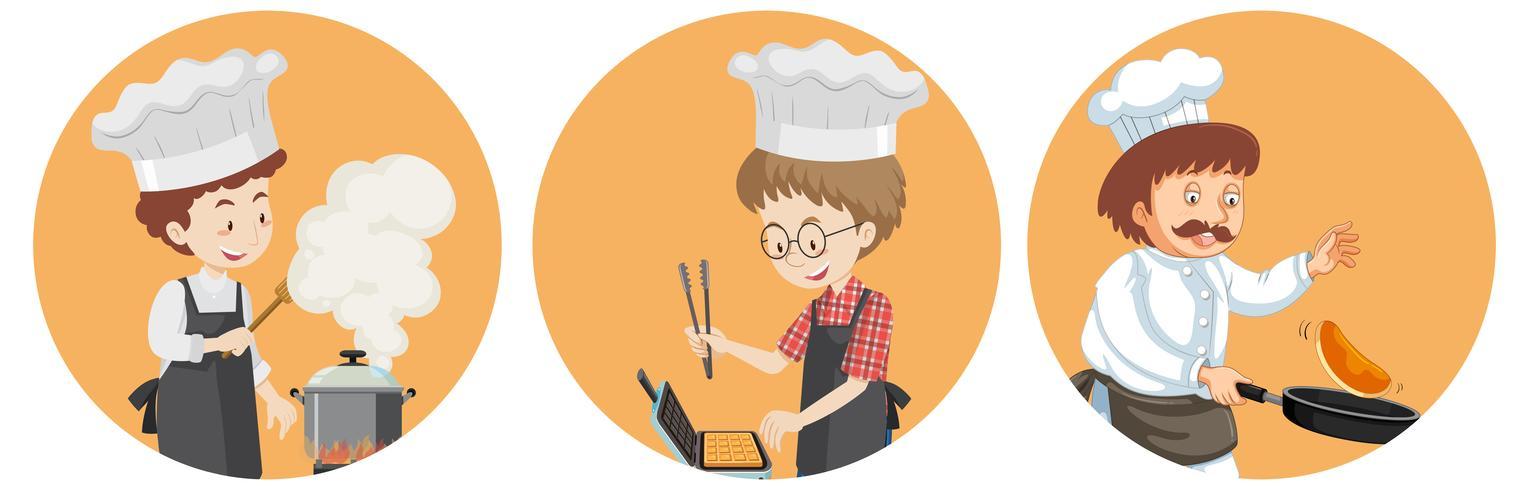 Um conjunto de chef internacional