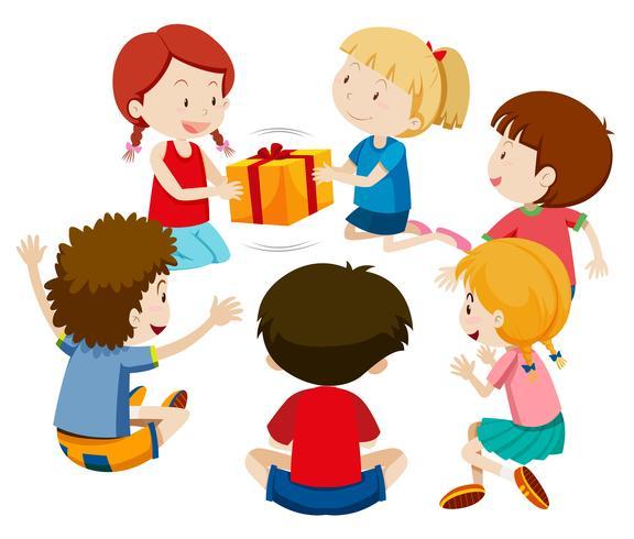 Kinder Spielen Geschenk Download Kostenlos Vector Clipart