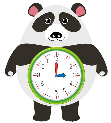 En panda klocktecken