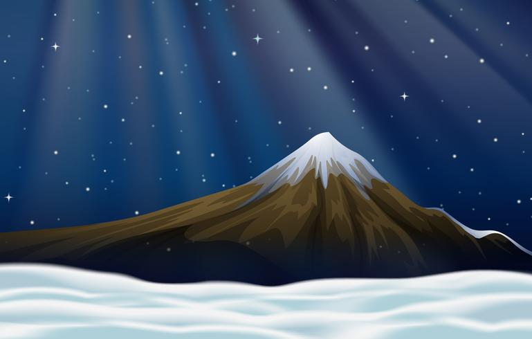 Background scene with moutain at night - Download Free Vector Art, Stock Graphics & Images