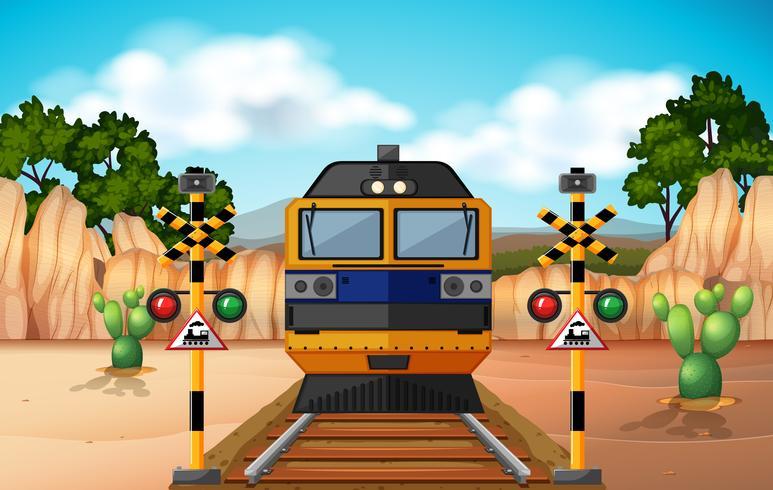 Tren en la pista