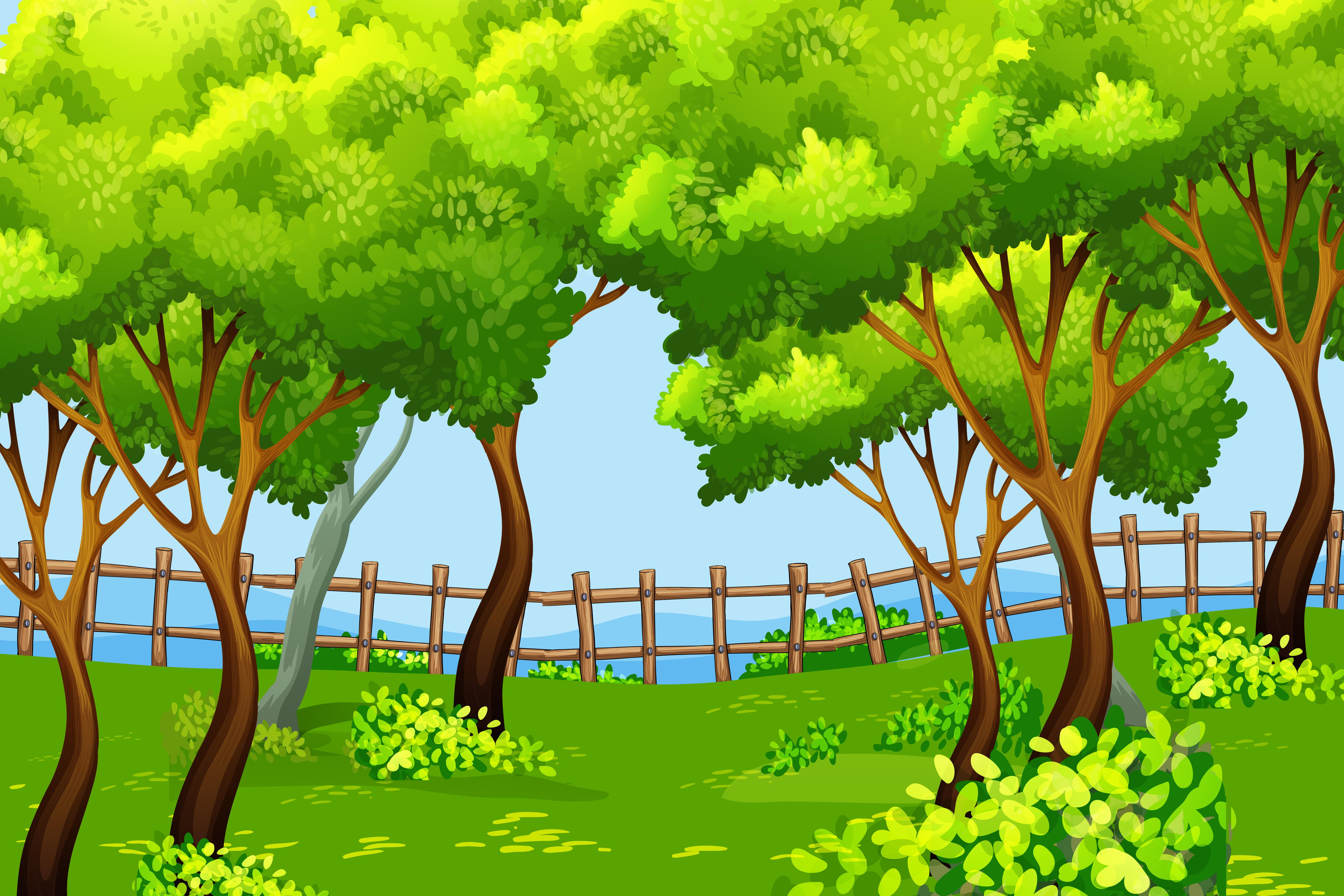Park scene landscape background - Download Free Vectors ...