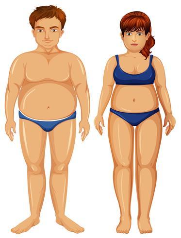 Set of overweight figures vector