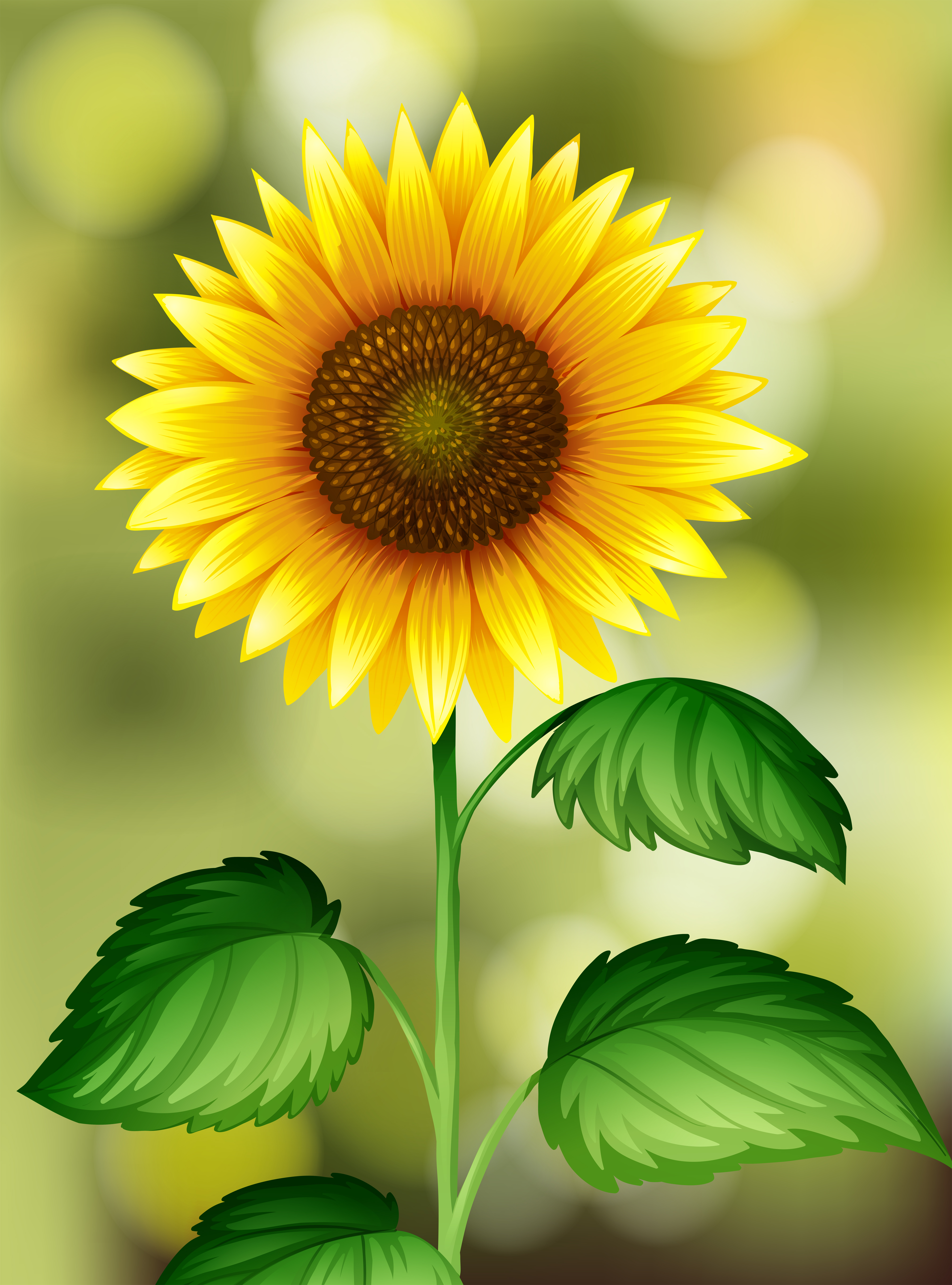 A Sunflower On Nature Background Download Free Vectors