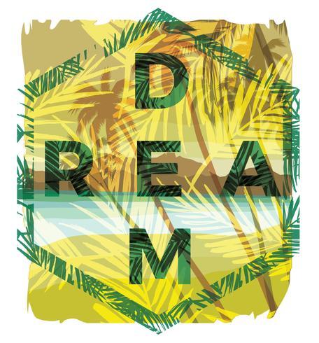 Ilustración vectorial con el eslogan para camisetas.