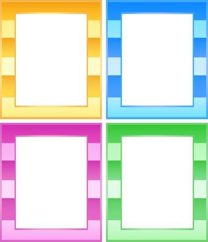Set med färgglada ramar