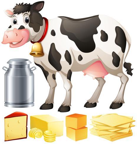 Vache et autres produits laitiers vecteur