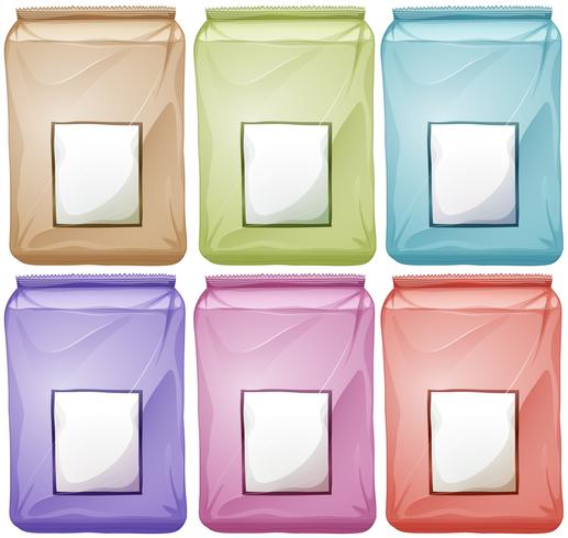 Bags in different colors