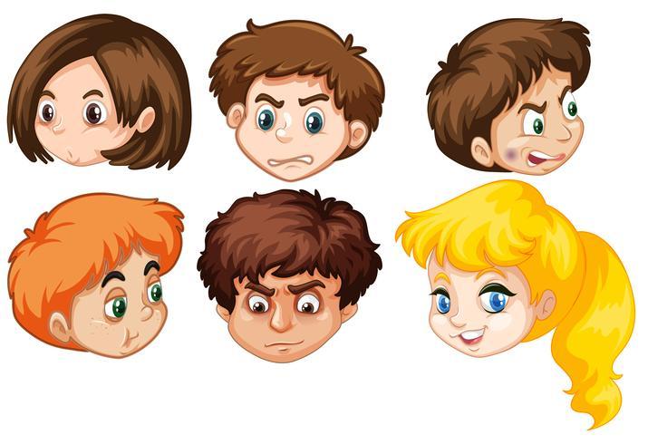 Grupo de cabezas humanas