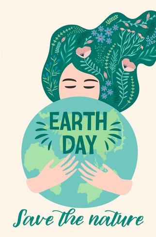 Día de la Tierra. Diseño vectorial vector