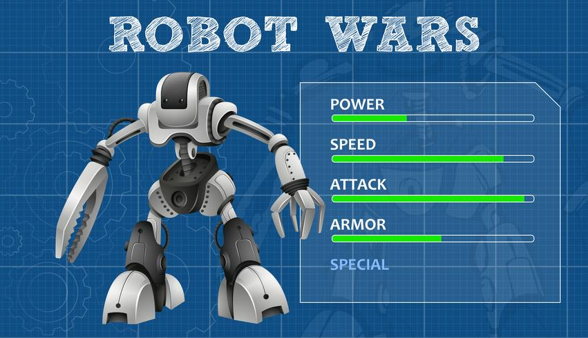 Robot design with special features board vector