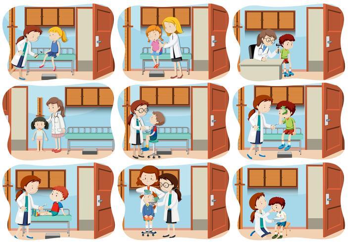 A set of children healthcare