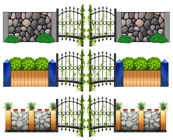 Unterschiedliches Design für Tore und Wände