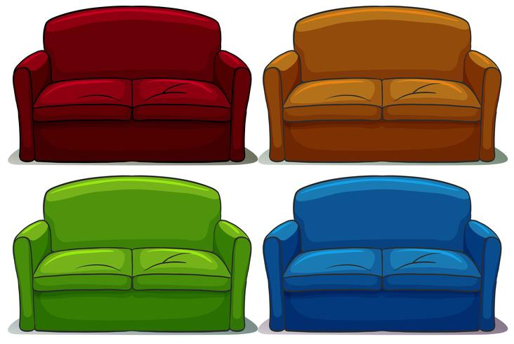 Sofa gesetzt