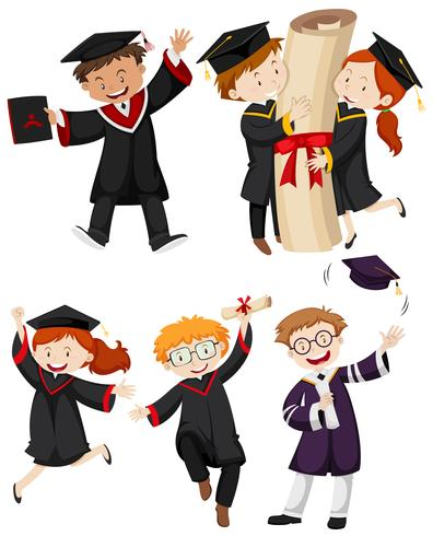 People in graduation gown