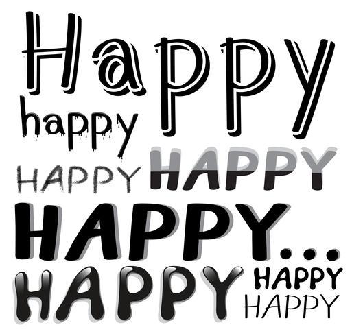 Teckensnitt Glad vektor
