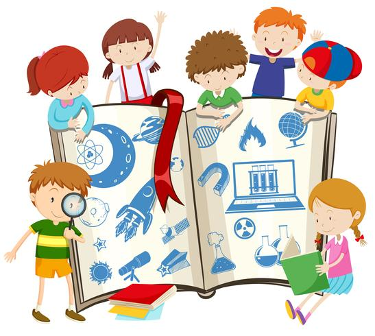 Vetenskap bok och barn