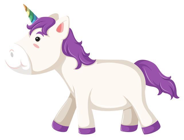 Un personaje de unicornio sobre fondo blanco