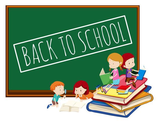 Tafel zurück zu Schule Vorlage - Download Kostenlos Vector ...