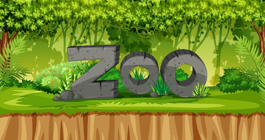 En natur zoo mall vektor